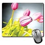 Rosa Tulpen Bokeh Premium bedrucktes Designer-Mauspad   Gaming Mouse Pad   HD-Druck   Ultimativer Griff   Wasserdichte Beschichtung   Spieleliebhaber   Perfekt für Home & Office   Anti Skid   Schlanke