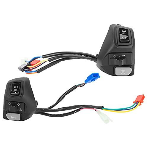 Interruptor de manillar de 2 uds, botón de bocina de haz bajo/alto, interruptor de señal de giro, accesorios de coche, repuesto para AEROX 155125