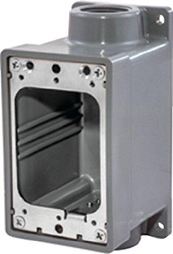 "Hubbell 36-HBL6083 Watertight Fd Box 3/4"" Gray"