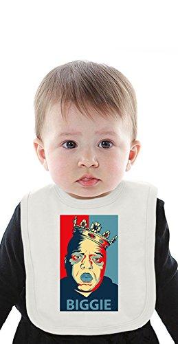 Biggie Smalls Inspired By Obama Organic Baby Bib With Ties Medium