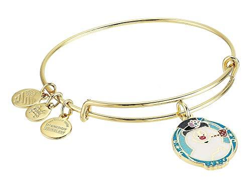 Alex and Ani Frosty The Snowman Bangle Bracelet Shiny Gold One Size