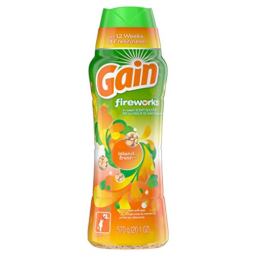 GAIN Gain Fireworks in-Wash Scent Booster Beads, Island Fresh, 20.1 Ounce, Pack of One