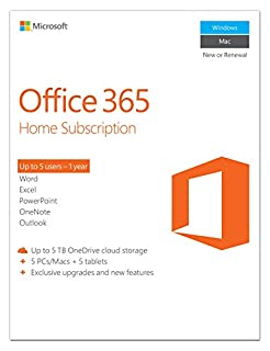 Microsoft Office 365 Home 1 Year | 5 PC or 5 Mac Key Card (B009SPTUW2) | Amazon price tracker / tracking, Amazon price history charts, Amazon price watches, Amazon price drop alerts