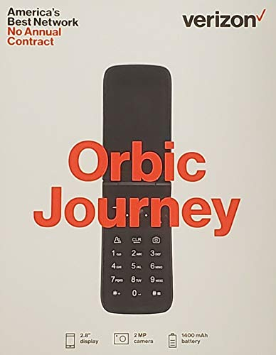 Orbic Journey V Verizon Prepaid 4g LTE Flip Phone - Black