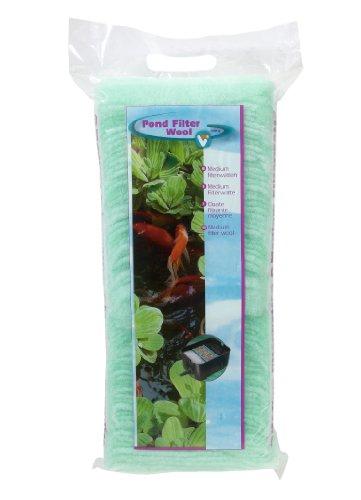 VT 147015 Filterwatte für Teichfilter gegen alle Wassertrübungen, Mittelfein, grün, 500 g