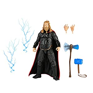 Marvel Hasbro Legends Series 6-inch Scale Action Figure Toy Thor, Infinity Saga Character, Premium Design, Figure and 5…
