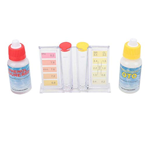 Germerse Testbox Zubehör Wasserqualität Testbox Pool PH Test Kit, PH Testbox Pool Wasser Test Kit, langlebig für Whirlpool Chemikalien Brom Schwimmbad im Freien