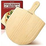 Pala para Pizza de Madera - Acabado Natural - Madera de Pino - Bordes Biselados - Para Pizzas de Ø 28-30 cm