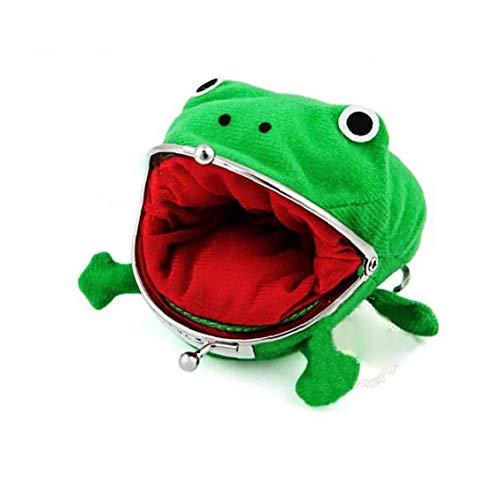 xuew Netter grüner Frosch-Münzen-Beutel Cosplay Props Plüsch-Spielzeug-Geldbeutel-Mappe für Naruto-Liebhaber und Cosplay