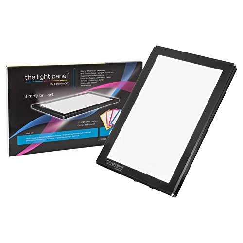 Porta-Trace LED Light Panel, Black Frame, 11-by-18-Inch