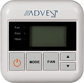 Digital Wall Thermostat Multi Speed For Heat Pump Control 12 Volt DC High Low Fan Speed Control Auto On Fan Control White Case