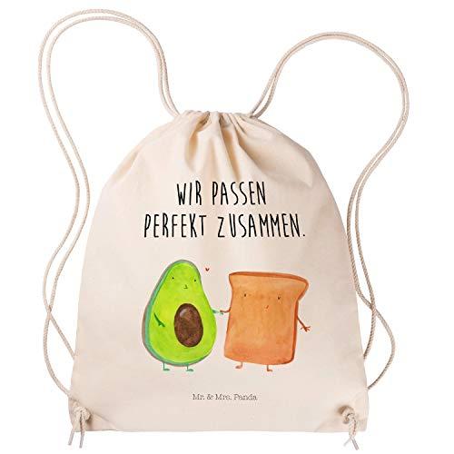 Mr. & Mrs. Panda Tragetasche, Hipster, Sportbeutel Avocado + Toast mit Spruch - Farbe Transparent