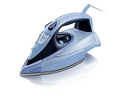 Philips Azur GC4865/02 Plancha de Vapor Continuo 40 g/min, Golpe de 200 g, 2400 W, 0.35 litros, 0.35, Compuesto, Azul Oscuro