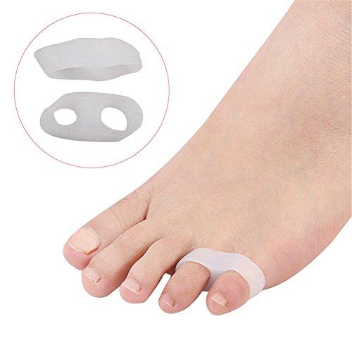 4 distanziatori per dita dei piedi, per alleviare rapidamente il dolore, utilizzabili con le scarpe
