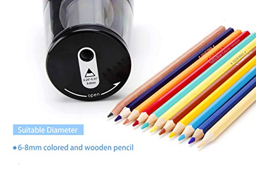 IKONG Electric Pencil Sharpener Heavy-Duty, Auto-Stop Battery Operated Pencil Sharpener for No.2 and Colored Pencils (6-8mm), Colored Electric Pencil Sharpener for Kids, School and Teacher Supplies Photo #4
