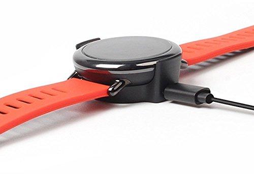 SIKAI USB Cable de Carga para Amazfit Pace Reloj PortableCargador Reemplazo USB Cradle para Amazfit Recambios Cable de Carga Clip Dock de Muelle (Negro Cargador)