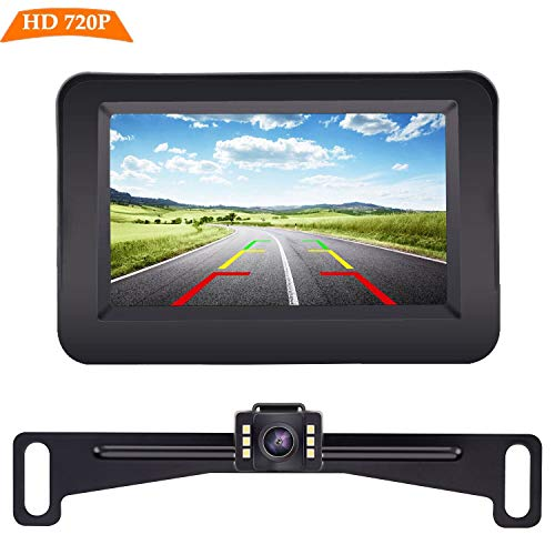 Yakry Y11 HD 720P Backup Camera and Monitor Kit 4.3 Inch Monitor Hitch...