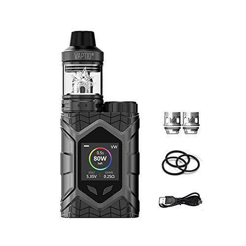 Vaptio Wall Crawler Vape KIT avec Frogman XL Tank Batterie 80W Mod Résistance 0,05/2,0 ohm E Cigarette TCR 1,3 pouces Écran TFT Pas de batterie Pas de liquide E Pas de nicotine