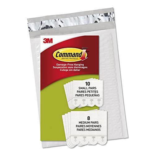 Command Picture Hanging Strips, White, Indoor Use, 10 Small Pairs, 8 Medium Pairs (PH203-18NA)