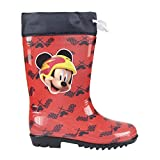 Mickey Mouse S0710665, Botas de Agua Unisex-Child, Rojo