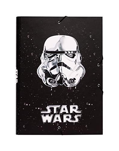 Grupo Erik Editores Classic Trooper - Carpeta con solapas, diseño Star Wars, 34 x 25.5 cm