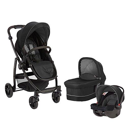 Graco Evo Cochecito de bebé Trio (negro y gris)