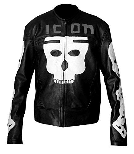 Icon Motorhead - Chaqueta de piel sintética con diseño de calavera