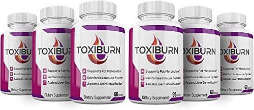 6 Pack Toxiburn Management Pills Liver Cleanse Diet Capsules Supplements Reviews Toxi Advanced product image