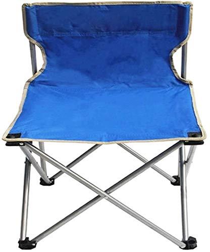 XINGDONG Silla de camping ligera y portátil plegable al aire libre con respaldo alto para deportes, picnic, playa, senderismo, pesca, descanso, cómodo (color: azul)