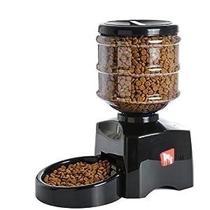 Mvpower Distributeur de Nourriture Programmable Croquettes Automatique Pour Pet Chien Chat