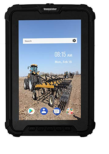 Vanquisher Android Rugged Tablet PC, IP67 Totalmente Resistente al Agua/con Zebra 1D 2D Bar Code Scaner/GPS/para Enterprise Mobile Work, 8-Inch/Android 7.1