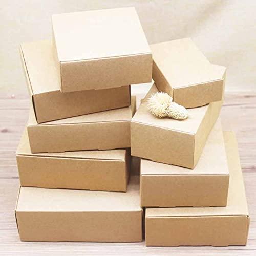 XININ Papierbox in verschiedenen Größen, quadratisch, Kraftpapier, für Hochzeitspartys, handgefertigte Seife, Schokolade, Süßigkeiten, 20 Stück
