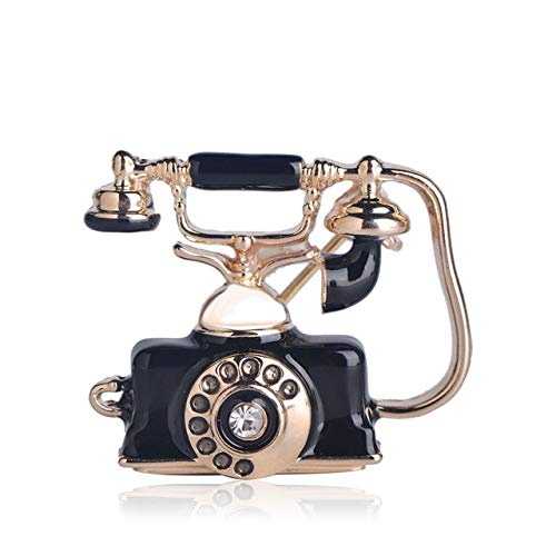 XZROOKEI Teléfono Fijo Antiguo Cable Forma teléfono