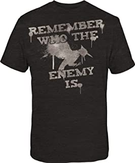 The Hunger Games 2: Cathing Fire Remember Who The Enemy Is Mens Black T-Shirt