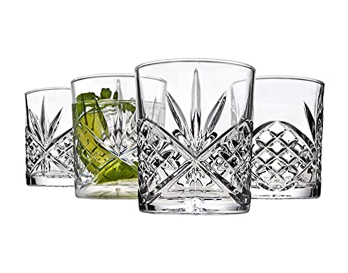 Godinger Old Fashioned Whiskey Glasses, Shatterproof and Reusable Acrylic - Dublin Collection, Set...