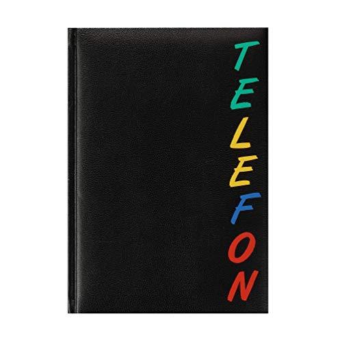 Preisvergleich Produktbild Herlitz 22376 Adressbuch A5 Rainbow,  wattierter Einband,  schwarz,  mit 24-teiligem Register,  A-Z Telefonbuch