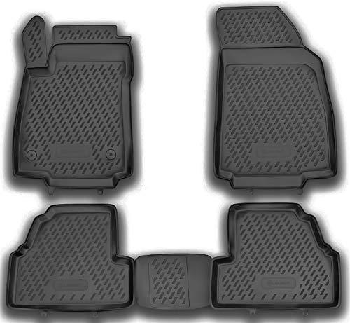 Element EXP.CAROPL00029h Passgenaue Premium Antirutsch Gummimatten Fußmatten OPEL Mokka X 2012-2020, Schwarz, Passform