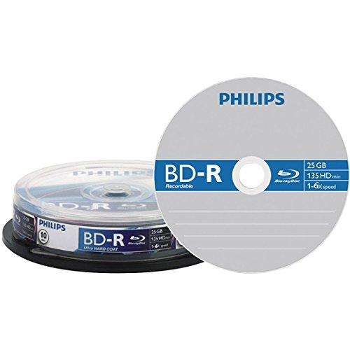 Philips BR2S6B10F/00 BD-R Rohlinge 6X 25GB 10er Spindel