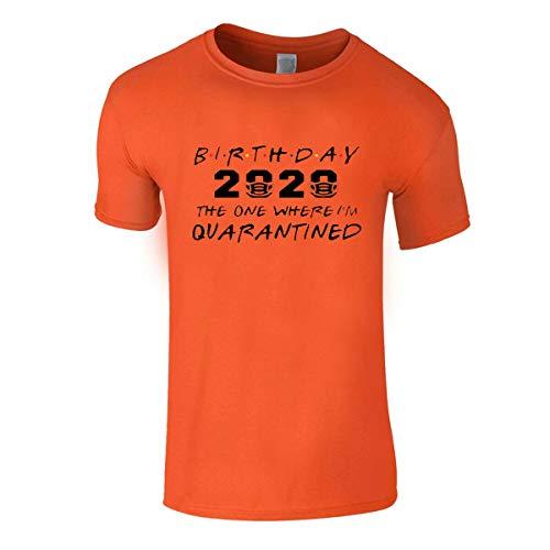Social Distancing - Camiseta para hombre, diseño de cuarentena de crisis Naranja naranja M