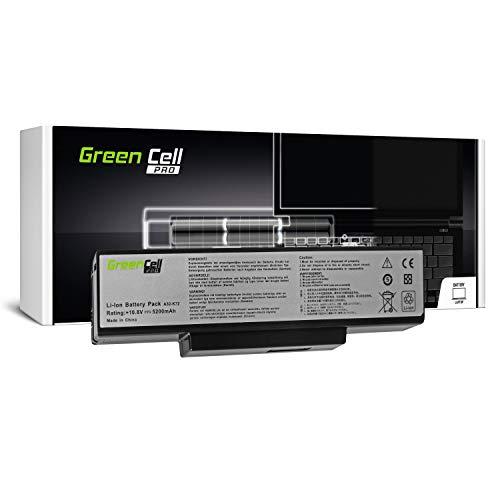 Green Cell Pro Serie A32-K72 Laptop Akku für ASUS K72 K72F K72J K72JR K73 K73S K73SV N71 N73 N73S N73SV X73 X73E X73S (Original Samsung SDI Zellen, 6 Zellen, 5200mAh, Schwarz)