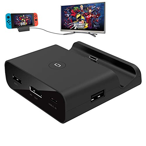 FONCBIEN Dock di Ricarica per Nintendo Switch,Adattatore USB C a HDMI Supporto modalità TV e modalità Console,Supporta 4K / Switch 1080P,USB 3.0 Caricabatterie Staffa per Switch