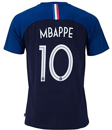 Equipe de FRANCE de football T-Shirt FFF - Kylian MBAPPE - Collection Officielle Taille Enfant garçon 10 Ans