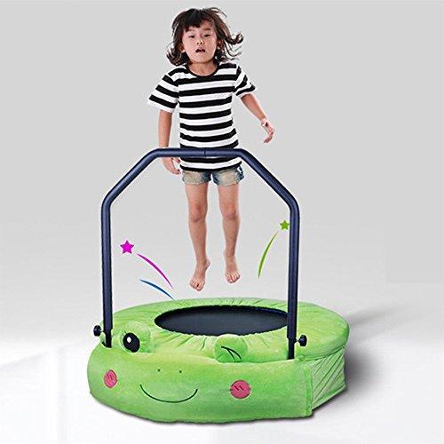 Wly&Home opvouwbare kindertrampoline, kikker-stijl huiselijke trampoline, ruimtebesparende volwassen fitnessruimte met armleuning Bounce Bed 96 cm