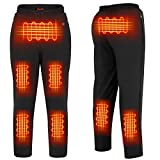 FERNIDA Fashion Mens Heated Pants Electric USB Charging Washable Winter Black Heating Trousers