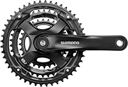 SHIMANO FC ty501Quadrato 6/7/8Volte Guarnitura, Nero, 175mm