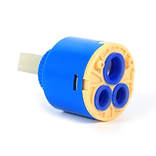 Snufeve6 Cartucho de Disco de cerámica, Material plástico PP de Calidad para Uso de Agua(40mm)