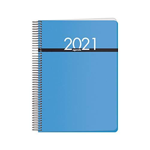 DOHE Metrópoli - Agenda Anual Día por Página - Medidas 17 x 21 cm DP - 336 páginas - Color Azul