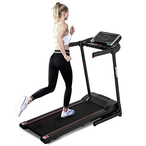 Máquina de Aptitud de Jogging Plegable de la Cinta de Correr eléctrica con Altavoces Dobles, 12 programas predeterminados,MonsterAmy (Color : Color1)