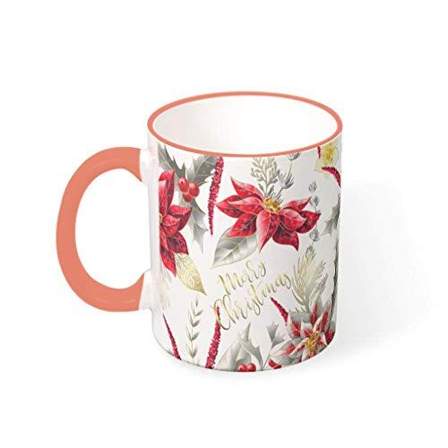 Bekend 11 Ounce Kerstmis Happy Mix Cappuccino Mokken met Handvat Keramische Retro Mokken - Klasgenoot, Pak voor Familie gebruik