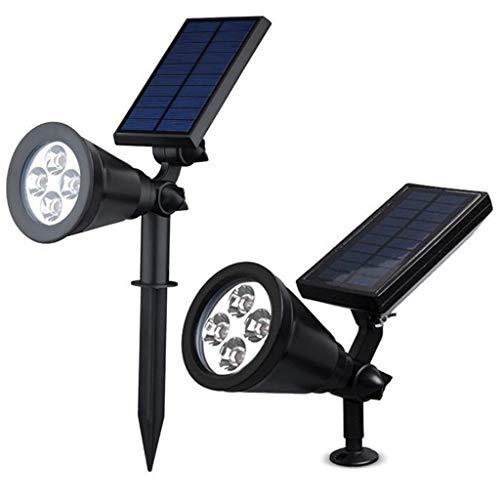 HOMZYY Solar-buitenspot voor buiten, waterdicht, 2-in-1 spot, solar-LED-verlichting, automatische aan-/uit-verlichting, looppad, terras, binnenplaats, tuin en landschapsverlichting Warm wit.